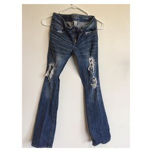Distressed Runway Jeans Size 1